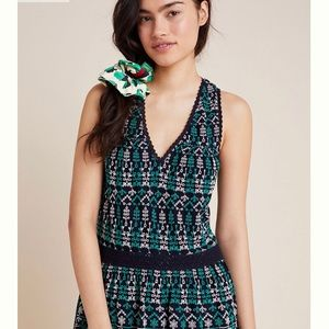 Anthropologie- Cammie Embroidered Peplum Top
